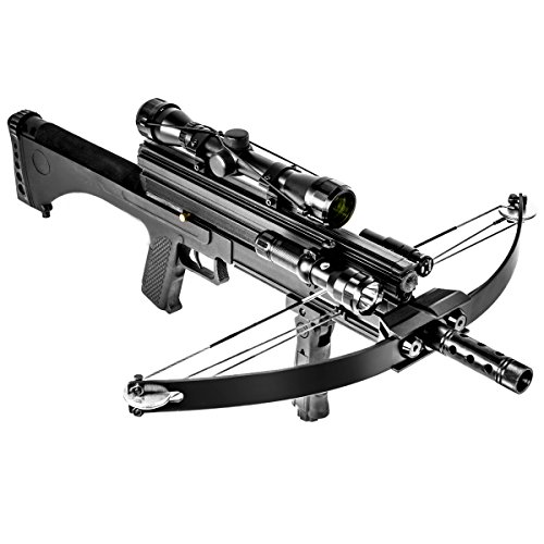 XtremepowerUS Multifunctional Crossbow 80 lbs 160 fps Hunting Equipment 200 Magazine Capacity