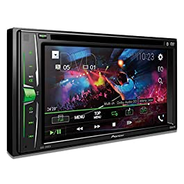 "Pioneer AVH-200EX Multimedia DVD Receiver with 6.2"" WVGA Display, and Built-in Bluetooth 3"