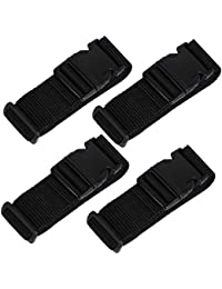 XSTRAP 72 Inch Utility Strap with Quick-Release Buckle, 4 Piece Luggage Strap (Black)