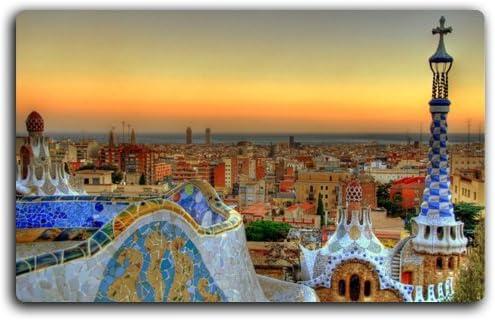 Park Guell Barcelona Granada Madrid España característica Creative turismo Souvenirs imán imanes de nevera: Amazon.es: Hogar
