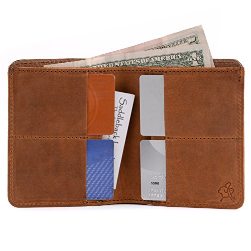Saddleback Leather Co. Large Leather Bifold Wallet For Men RFID-Shielded Includes 100 Year Warranty