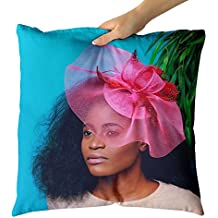 Westlake Art Decorative Throw Pillow - Woman Portrait - Photography Home Decor Living Room - 16x16in