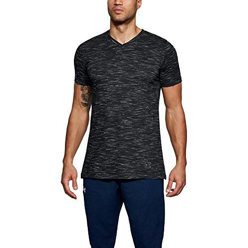 Under Armour Men's Sportstyle Core V-Neck, Black (001)/Graphite, X-Large