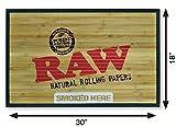 "RAW Natural Rolling Papers - Bamboo Door Mat 30"" x"