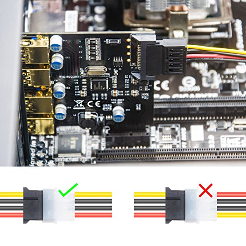 Mailiya PCI-E to USB 3.0 4 Port PCI Express Expansion Card (PCIe Card),Superspeed USB 3.0 Card 15-Pin Power Connector Desktops,Super Speed up to 5Gbps by Mailiya (Image #4)