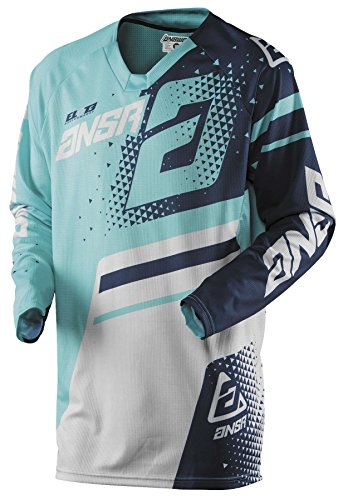 Answer Racing A18 Elite Men's Off-Road Motorcycle Jerseys - Teal/Navy/Large ()