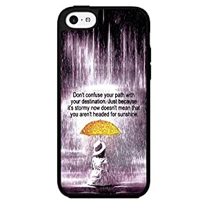"""lintao diy """"Don't Confuse Your Path with Your Destination"""" Inspirational Quote Hard Snap on Phone Case (iPhone 5c)"""