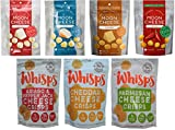Moon Cheese (2 oz) and Cello Whisps (2.12 oz) 7 Pack Crunchy Assortment including Monterey Jack Sriracha