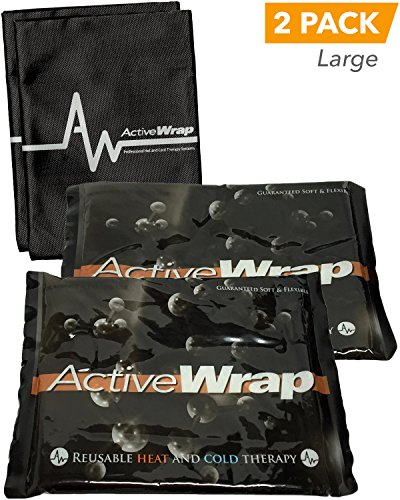 Heat/Ice Packs Large Freezer-ready for Ice Therapy and Microwave-ready for Heat Therapy. Soft and Flexible, Leak proof Thermal Design. Compatible with ActiveWrap Heat/Ice Wraps. BAWP004 By ActiveWrap. (Ready Pack)