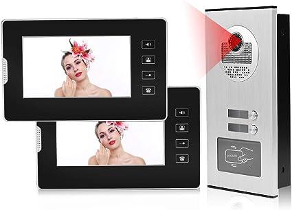 """2,5/"""" TFT 2,4 GHz Video Türklingel Intercom Kamera Sicherheit Türsprechanlage"""