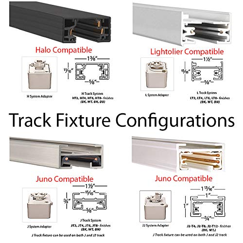 Black WAC Lighting JHT-160 Low Voltage Track Heads Compatible with Juno Systems