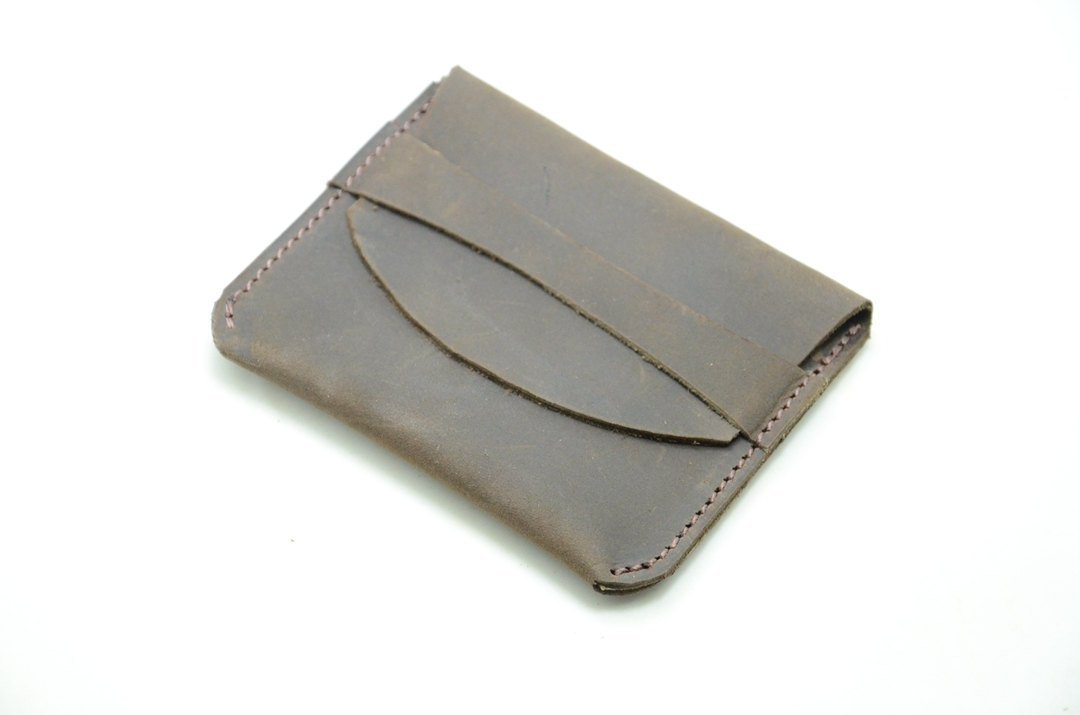 Groomsmen-Brautjunfer-Geschenke Minimalist-Mappen-Leder, Kreditkarte ...