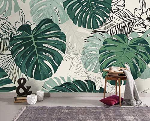 Amazon Com 3d Tropical Wallpaper Plant Turtle Back Leaf Sofa Tv Background Wall Green Leaf Poster Design Bedroom Peel And Stick Easy Removable Green Leaf Handmade