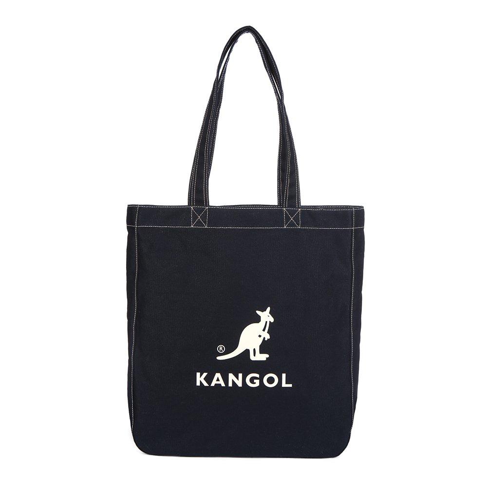 KANGOL Cotton Tote Bag for School Work Travel and Shopping Fashionable Shoulder Bag, Eco Friendly Bag Juno 0011 (Dark Navy)