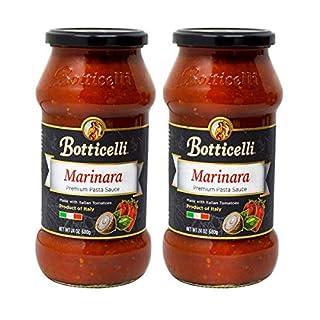 Botticelli Premium Italian Marinara Sauce - Pasta Sauce - For Pizza Sauce, Spaghetti Sauce and Other Low Carb Marinara Sauce Recipes 24oz (Pack of 2)