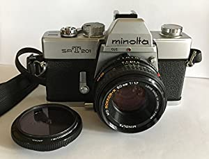 Minolta SRT-201 Manual Focus SLR Film Camera and a 50mm Lens