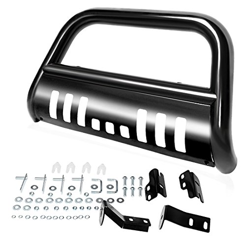 AUTOSAVER88 Bull Bar Compatible for 04-18 Ford F150 Black HD Heavyduty 3