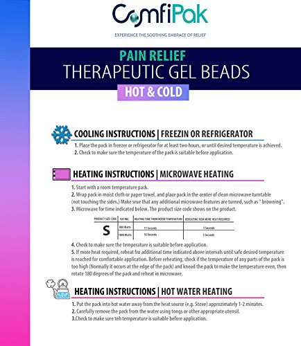 Beaded Gel Eye Mask Hot and Cold Therapy   Ice Mask For Migraine Headache, Stress, Pain Relief & Puffy Eyes by ComfiPak (Image #6)