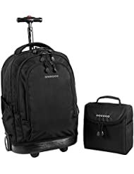 J World New York Setbeamer Rolling Backpack with Lunch Bag