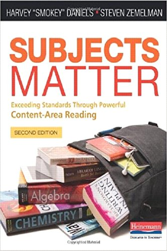 Pdf Teaching Subjects Matter, Second Edition: Exceeding Standards Through Powerful Content-Area Reading