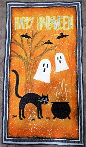 Spooky Vibes Halloween Wall Hanging Fabric Kit~Top, Binding and Backing by Wilmington Prints]()