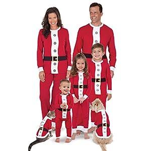 PajamaGram Matching Christmas Pajamas for Family - Family Christmas Pajamas, Red