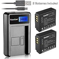 Kastar Battery (X2) & LCD Slim USB Charger for Panasonic CGA-S007 CGA-S007A CGR-S007 CGAS007 and DMC-TZ1 DMC-TZ2 DMC-TZ3 DMC-TZ4 DMC-TZ5 DMC-TZ11 DMC-TZ15 DMC-TZ50 DMC-TZ50-K DMC-TZ50-S Digital Camera