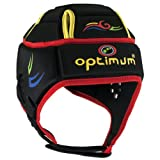 Optimum Men's Hedweb Classic Tribal Protective Headguard – Black/Red (Multi), Small For Sale