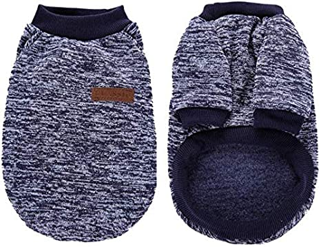 Medium and Large Dogs Abrlo 2 Pack Pet Dog Sweater Soft Thickening Warm Classic Knitted Puppy Cat Costumes for Small