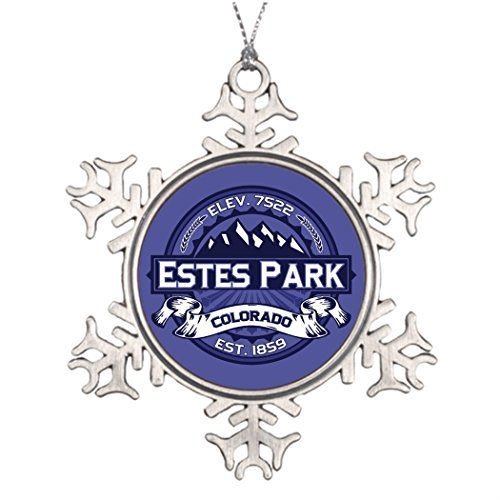 (EvelynDavid Colorado Personalised Ornament Tree Decorated Estes Park Unique Christmas)