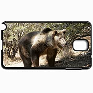 Customized Cellphone Case Back Cover For Samsung Galaxy Note 3, Protective Hardshell Case Personalized Bear Grass Trees Rocks Walk Black