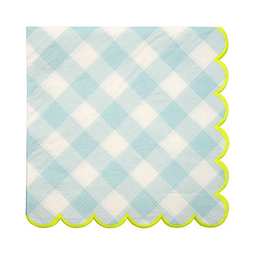 Meri Meri Blue Gingham Large Napkins ()