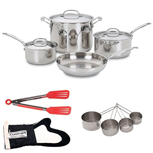 Cuisinart 77-7 7-piece Chefs Classic Non-Stick Hard Anodized Cookware Set Outfit (Cuisinart Cookware 77 compare prices)