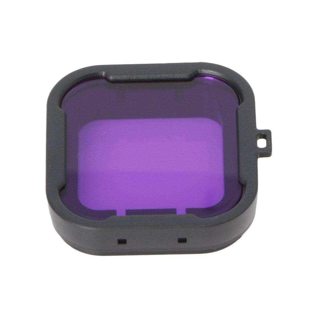 TechinalレンズダイビングフィルタGoPro Hero 3 + 4、カメラハウジングケースUnderwaterコンバータ パープル Filter01  パープル B072LQV4M5