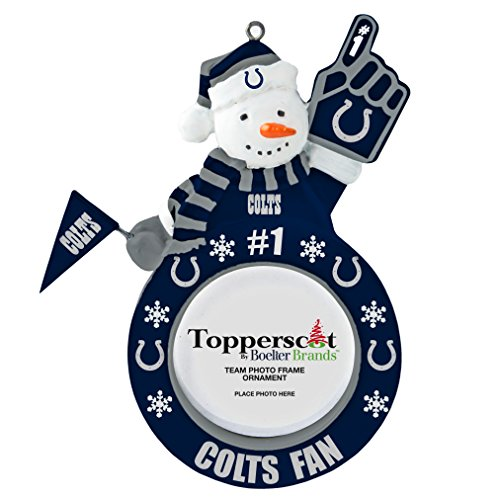 NFL Indianapolis Colts Snowman Frame Ornament (Christmas Decorations Colts)