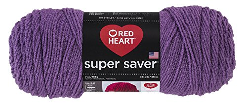 Red Medium Weight (RED HEART Super Saver Yarn, Medium Purple)