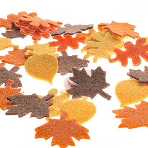 Dimensional Stickers Felt - Factory Direct Craft 252 Pieces of Fun Self Adhesive Dimensional Felt Falling Leaves Stickers for Crafting and Embellishing