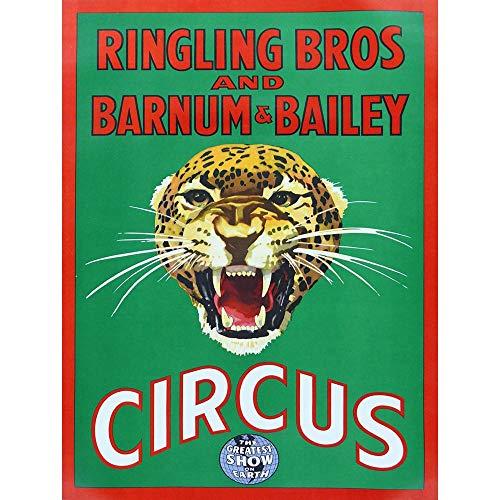 Wee Blue Coo Circus Ringling Bros Barnum Bailey Show Jaguar Cat Unframed Wall Art Print Poster Home Decor Premium