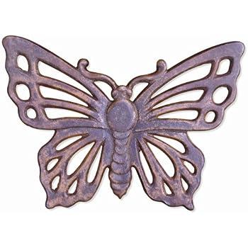 Sunset Vista Designs Garden Cast Iron Stepping Stone - Butterfly