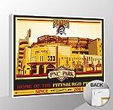 MLB Pittsburgh Pirates PNC Park Canvas Print Sports Propaganda, Regular