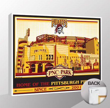 Art Wall Ticket Baseball (MLB Pittsburgh Pirates PNC Park Canvas Print Sports Propaganda, Regular)