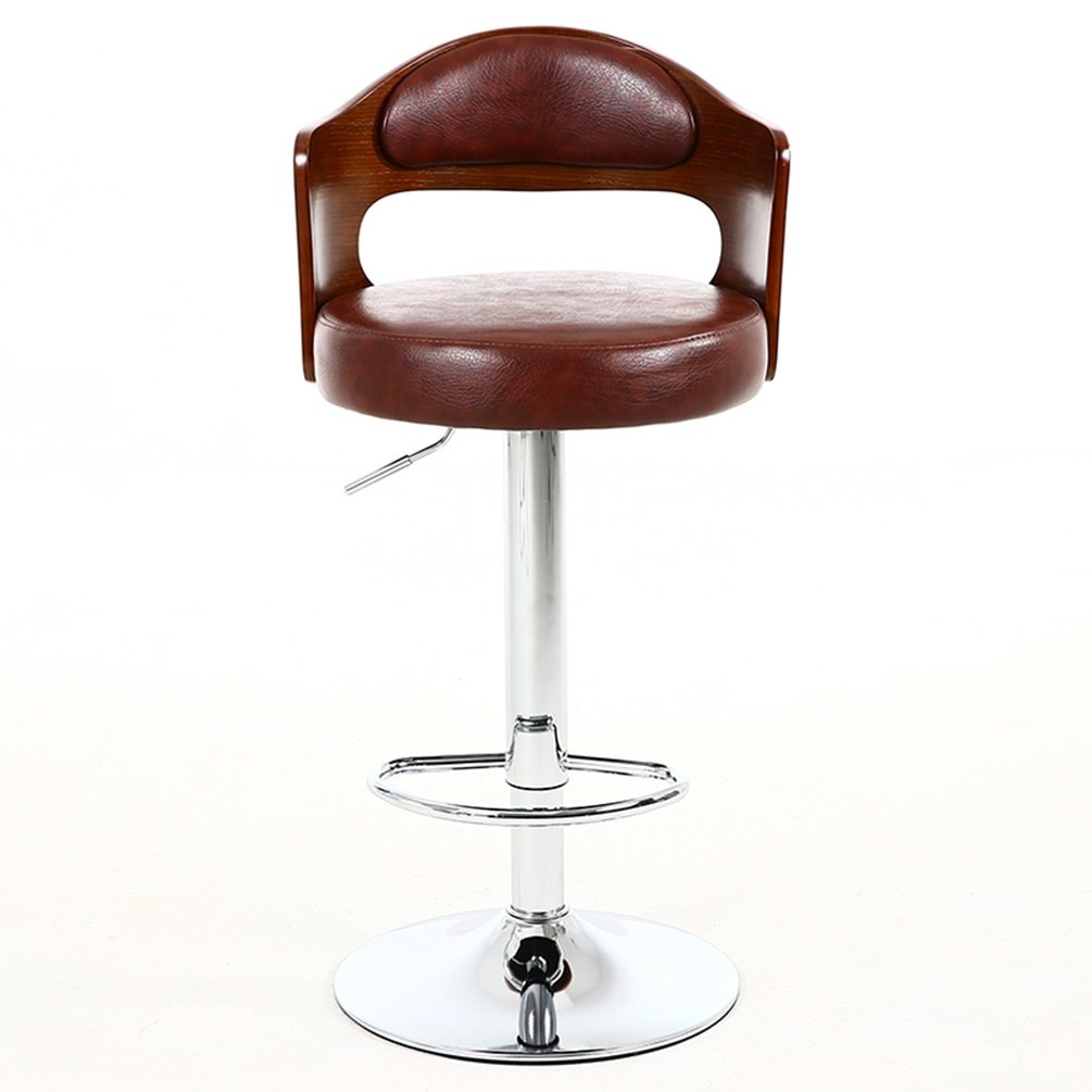 2019 Latest Design Retro Fashion Real Wood European High Bar Chair Lift Swivel Chair At The Front Desk Furniture
