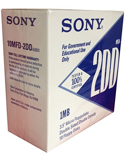 Sony 3.5 Micro Floppydisks Double Sided, Double Density 1 Box of 10 Pack