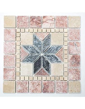 Acacia One London NY-HW1Z-LIX7 Dalles de sol autocollantes en vinyle effet marbre uni
