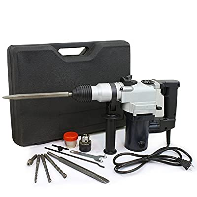 """1"""" 7 Amp Driver Rotary Hammer With Power Tool Carry Case With Drill Bits"""