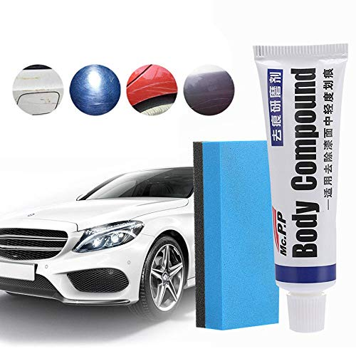 (Volwco Car Scratch Remover Cream,15 ML Car Paint Scratch Remover Repair Agent with Car Wash Sponge,Car Scratch Repair Abrasive Wax Polishing Wax Repair Kit)