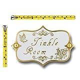 Tinkle Room Brass Bathroom Door Sign. Vintage