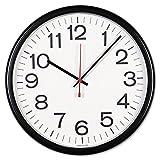 Universal 11381 Indoor/Outdoor Clock, 13 1/2'', Black