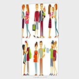 11.8W x 27.5L Inches Custom Cotton Microfiber Ultra Soft Hand Towel Pregnant Women Gays Couples And Families With Kids 330180044