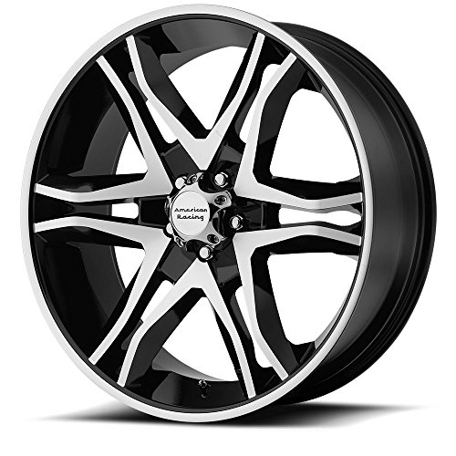 American Racing Mainline Wheel with Gloss Black Machined (17×8″/5×4.5″)